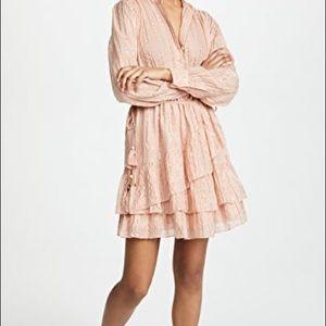 Pink Ulla Johnson Shimmer Stripe Della Dress